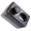 2-CONTROL, eenvoudige plugin dimmer plugin met aan/uit schakelaar, randaarde, 2400Watt.